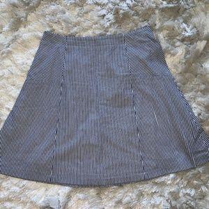 Loft Seersucker Skirt Size 4